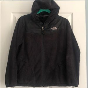 The North Face Girls Black Hooded  Zip Jacket